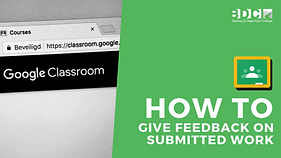 how to give feedback on submitted work .