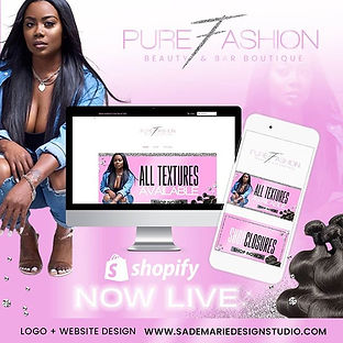 Logo + Shopify Website Design For Pure F