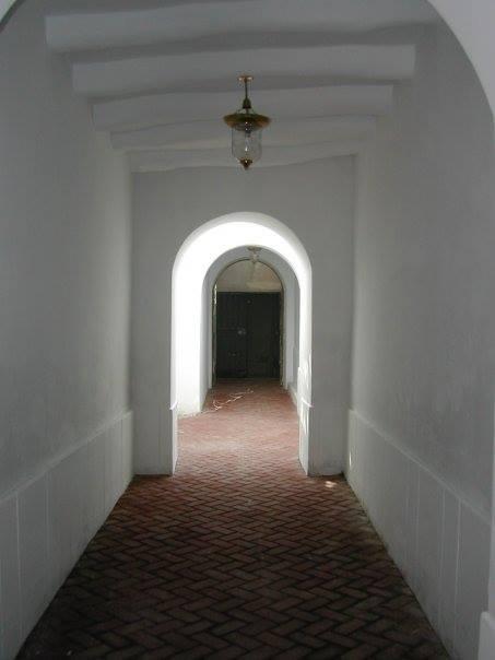 Corredor durante la restauración