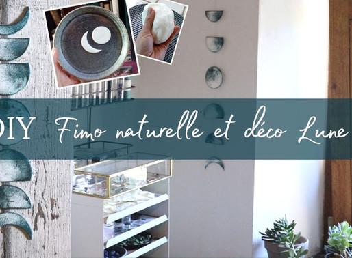 """Vidéo Tutoriel: Faire de la pâte Fimo écologique + tuto déco guirlande """"Lunaire"""""""