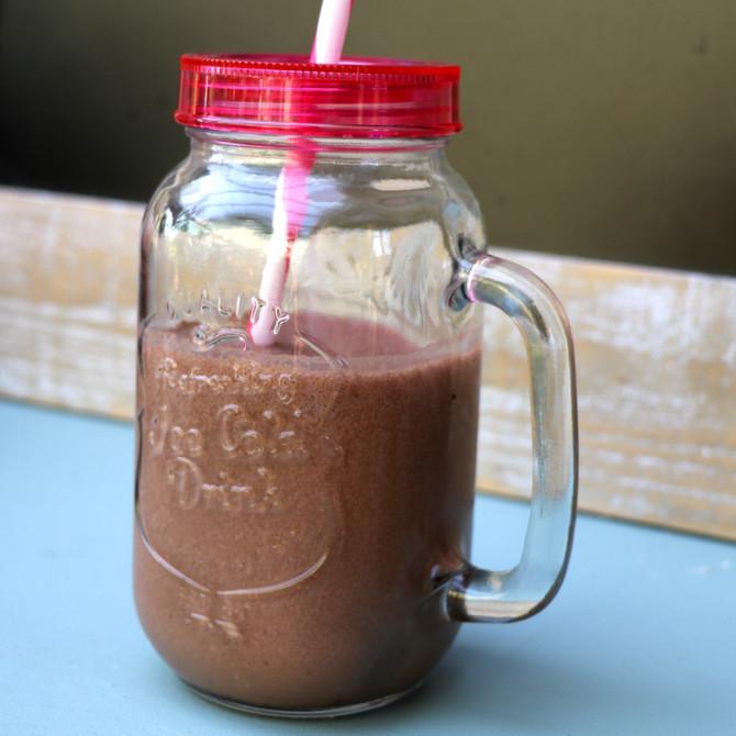 Recette Smoothie glacé au cacao & café, protéiné, stimulant et antioxydant