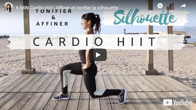 Séance vidéo Cardio Hiit | Affiner et tonifier la silhouette, perdre du poids - 6 ou 12 min
