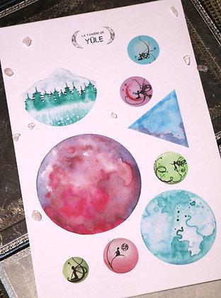 Stickers | Aquarelle féérique