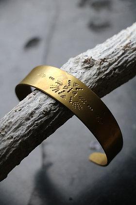 Bracelet en laiton   Collection Chaman - motif 4