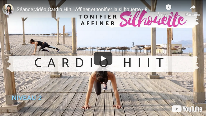 Séance vidéo Cardio Hiit | Affiner et tonifier la silhouette, perdre du poids - 8 ou 16 min