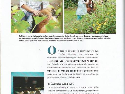 Notre jardin dans le magazine Nest