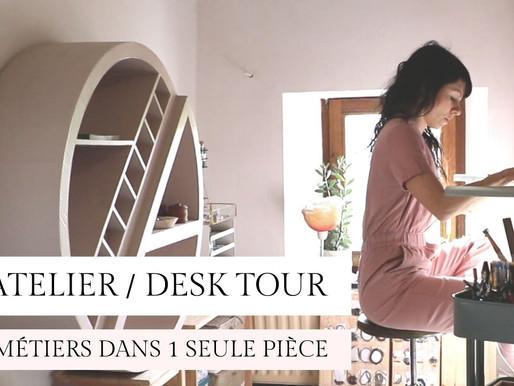 Vidéo de mon Atelier - Tour de mon lieu de travail / bureau / studio