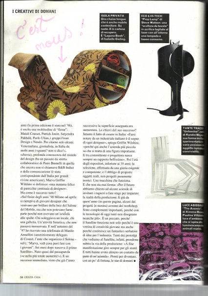 "Magazine Italien ""Grazia casa"" Salon Satellite"