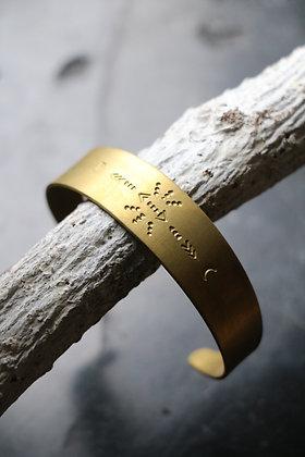Bracelet en laiton | Collection Chaman - motif 2