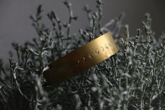 Bracelet en laiton   Collection Chaman - motif 3
