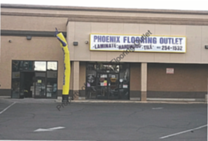 Phoenix Flooring Outlet warehouse, store front