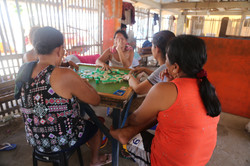 Some parents play mahjong at daytime as their sort of leisure.activityJPG