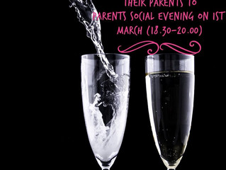 Social Evening on 1st March from 18.30-20.00