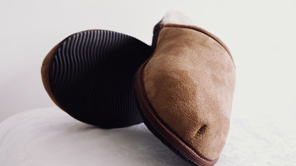 Sheepskin Mules for Men (Tan)