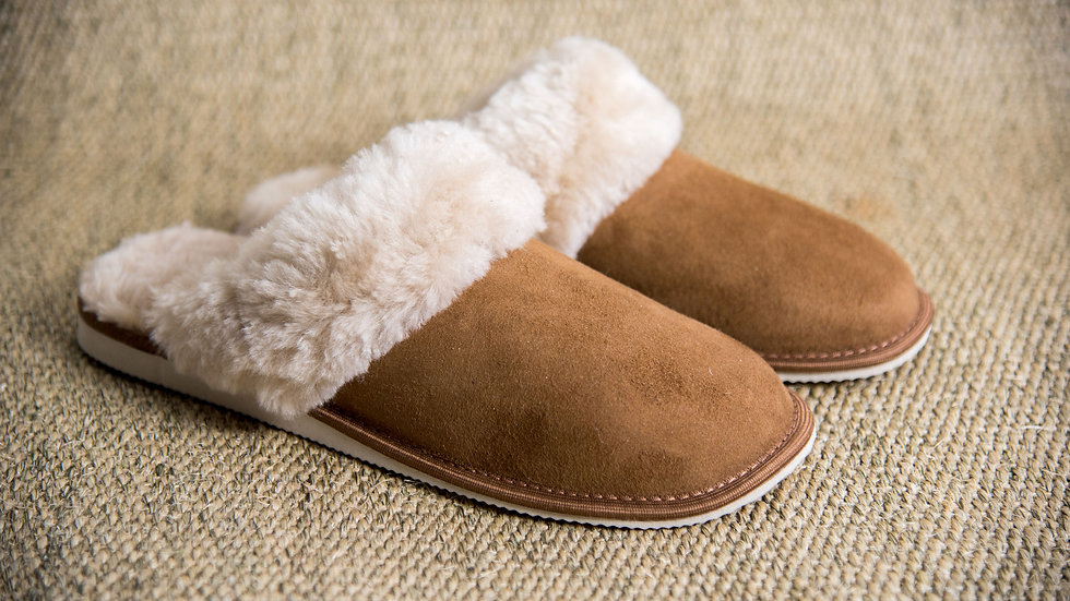 Sheepskin Mules for Women (Tan)