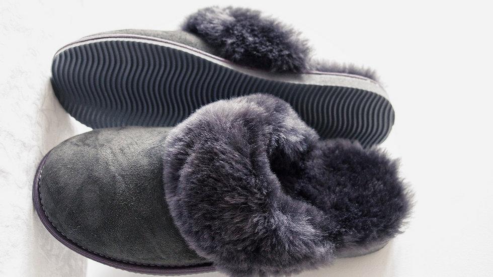 Sheepskin Mules for Women (grey)