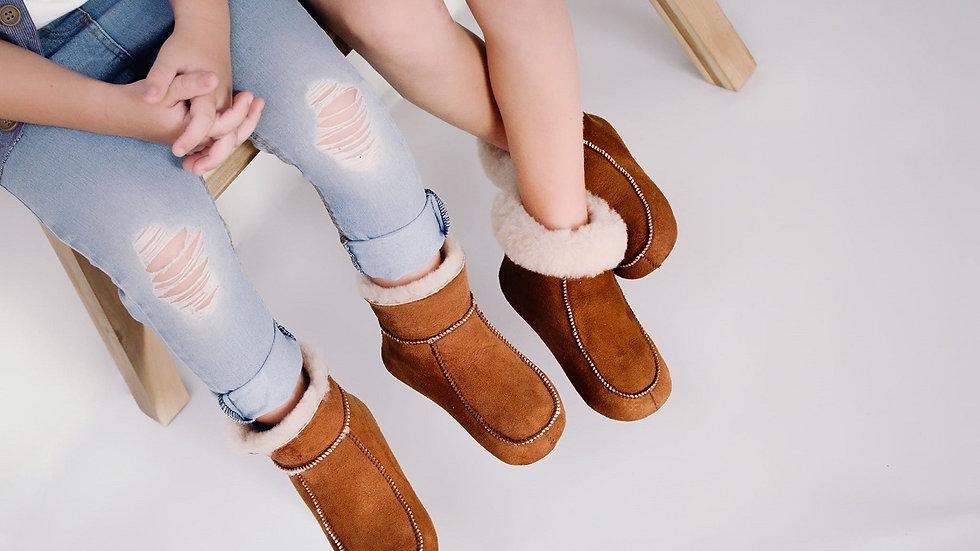 Sheepskin Slippers for Kids