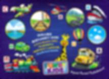 Учим транспорт, домашнее оборазование детей, FUNNY KIDS, Жирафик Боня