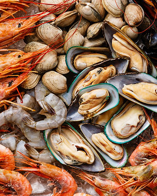 Fruits de mer et Shrims Clams