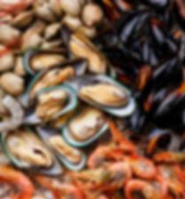 Морепродукты Shrims и мидии