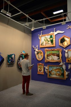 """Installation view at """"Cabinet of Rendering"""""""