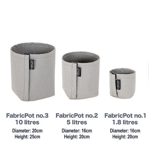 Fabric pot no.1 to no.3 Set | 1.8 - 10 litres | FabricPot