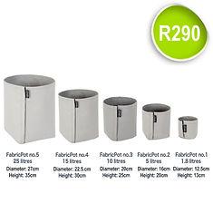 Fabric Pot no.1 to 5_FabricPot price SQU