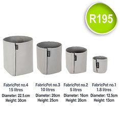 Fabric Pot no.1 to 4_FabricPot price SQU