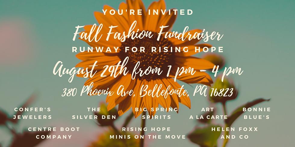 Fall Fashion Fundraiser: Runway for Rising Hope