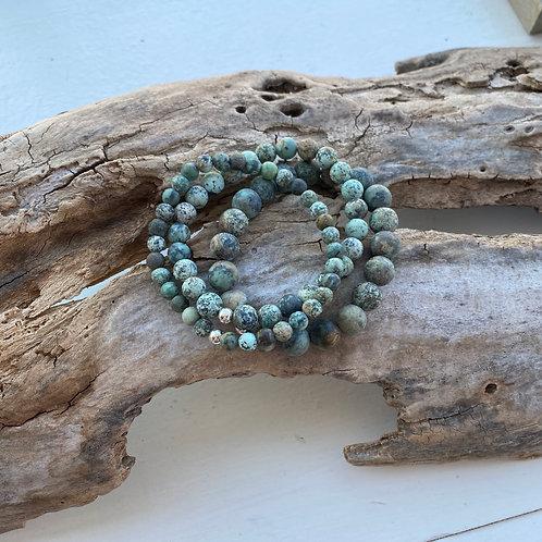 matte african turquoise jasper bracelet