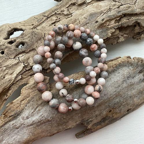 pink zebra jasper bracelet