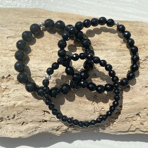 faceted black onyx bracelet