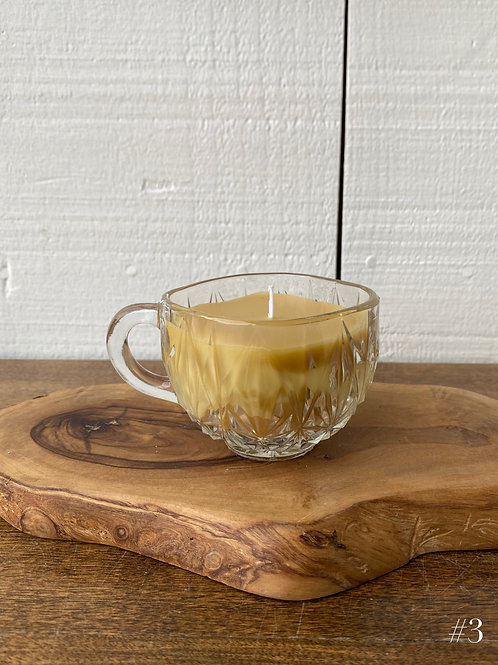 small beeswax candle