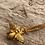 Thumbnail: gold vermeil bee necklace