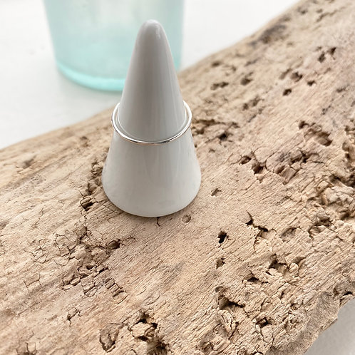 sterling silver thin stacker ring