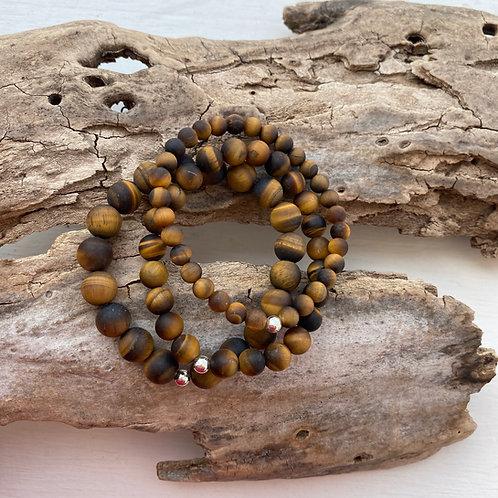 matte tiger's eye bracelet