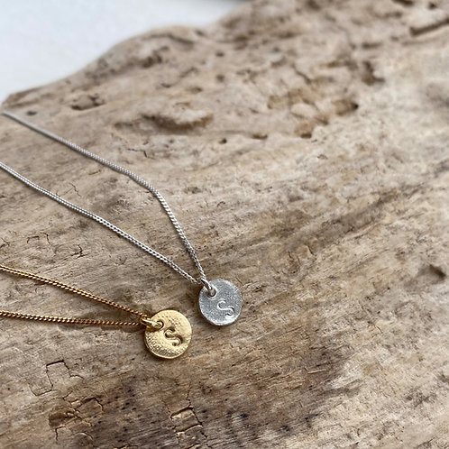 initial necklace (organic look)