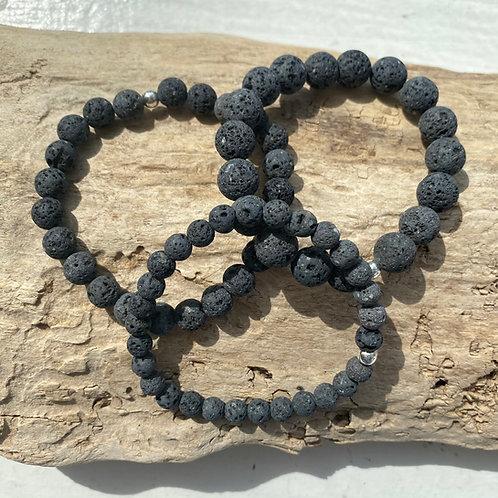 grey lava stone bracelet