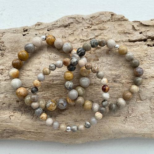 coral jasper bracelet