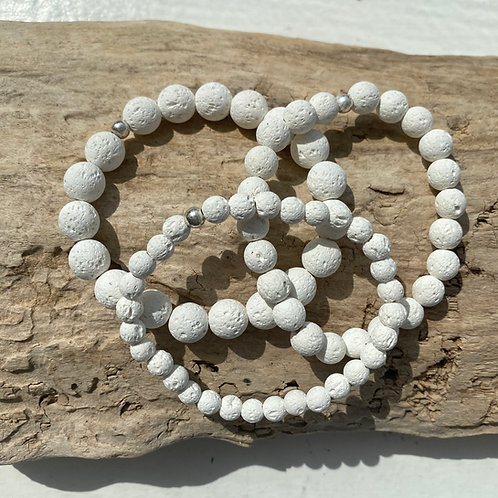 white lava stone bracelet