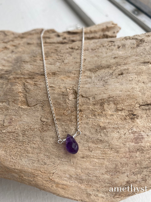 amethyst inset necklace