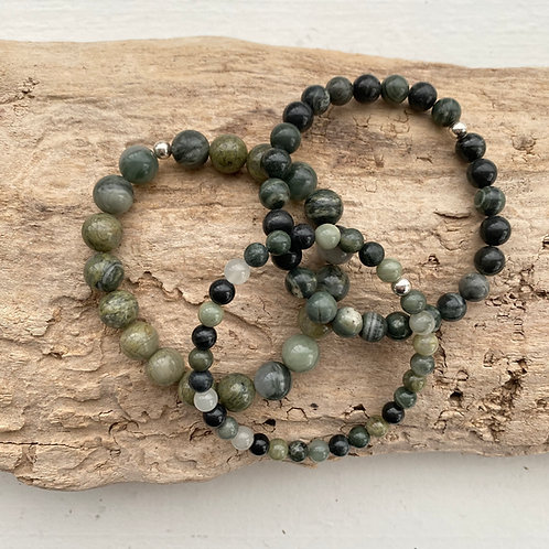 green lace agate bracelet