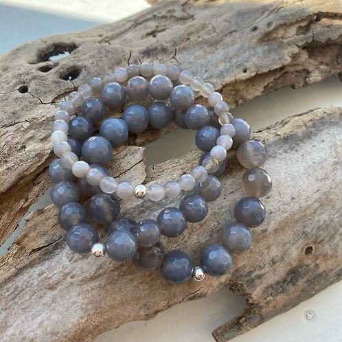 grey agate bracelet