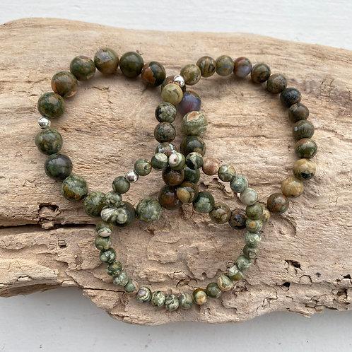 rainforest jasper bracelet