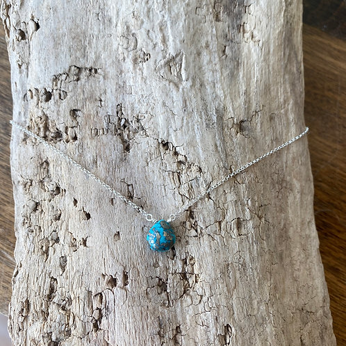 turquoise inset necklace