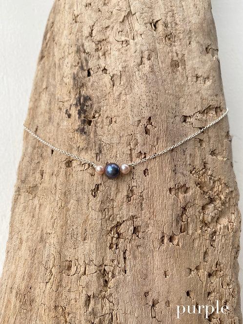 trio pearl inset necklaces