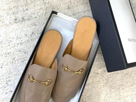 溫柔小姐姐的必備款👉🏻Gucci奶茶半拖鞋款無敵好穿+無敵百搭一定要買起來🛍