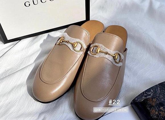 Gucci princetown 皮革拖鞋