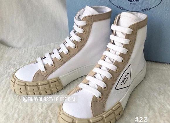 Prada Gabardine Fabric Sneakers 高筒餅乾鞋