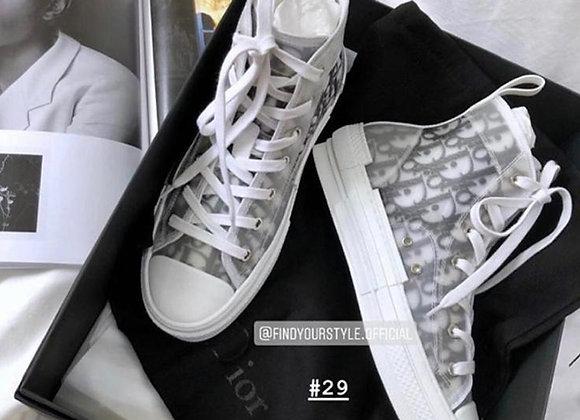 Dior Oblique 老花透明高筒鞋